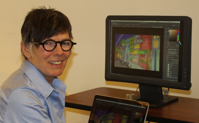 Co director and Animator Barb Taylor
